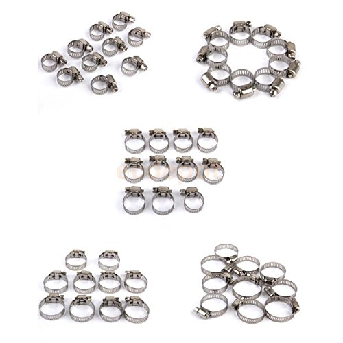 50pcs 5 sizes Adjustable Fuel Line Jubilee Hose Spring Clamp Petrol Pipe Clips (Dryer Gas Line 3 8 compare prices)