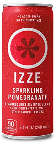 IZZE Fortified Sparkling Juice, Pomegranate, 8.4-Ounce Cans (Pack of 24)