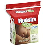 Huggies Natural Care Wipes, Fragrance Free, 184 wipes