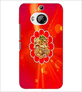 PrintDhaba Lord Ganesha D-3334 Back Case Cover for HTC ONE M9 PLUS (Multi-Coloured)