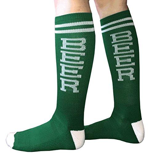 Chrissy's Socks Women's BEER Knee High Socks 7-11 Green