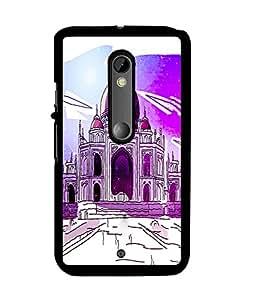 Fuson 2D Printed Taj Mahal Designer back case cover for Motorola Moto X Play - D4519