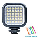 SUPON Godox LED 36 Dimmable Ultra Bright Portable 260LUX CN36 Continuous On Camera Led Light Panel for Camera Camcorder Video+CONXTRUE USB LED Free Gift