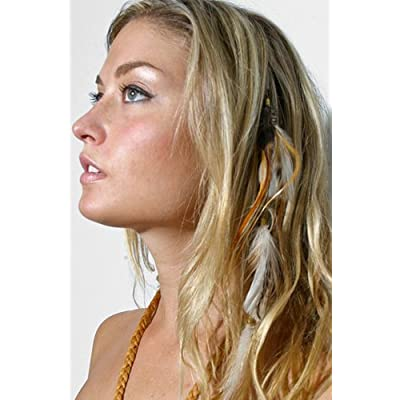Feather Hair Clip Extensions Set of 6 Assorted