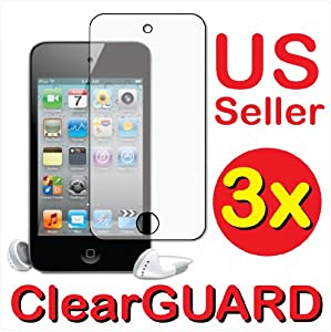 3x Apple iPod Touch 4th Generation Gen Premium Clear LCD Screen Protector Cov...