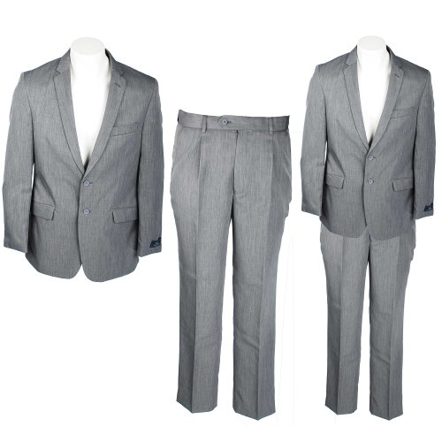 Thomas Brooks Two Piece Men's Charcoal Contemporary Cut Suit in Size Small
