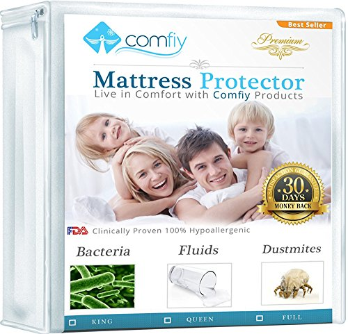 Great Deal! Comfiy Mattress Protector Hypoallergenic Bed Cover against Leaks, Bedbugs, and Dust Mite...