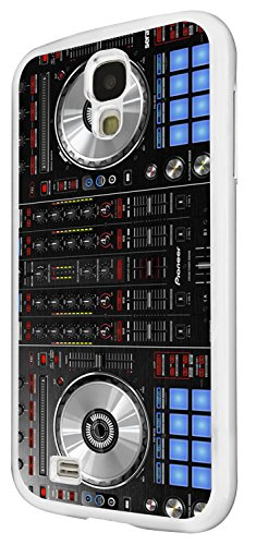1061 - cool fun dj mixer turntable vintage retro music dance clubber rnb hip hip rave club Design For Samsung Galaxy S4 i9400 Fashion Trend CASE Back COVER Plastic&Thin Metal - White