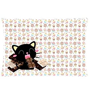 Amazon.com - Pookeb Chococat Cartoon Print Throw Soft Pillowcases