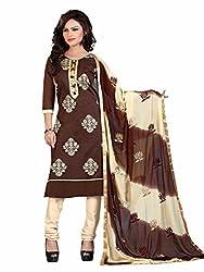Subhash Sarees Daily Wear Chocolate Color Chanderi Salwar Suit Dress Material