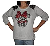 Disney Minnie Mouse Juniors Long Sleeved Lace Fashion Sweater
