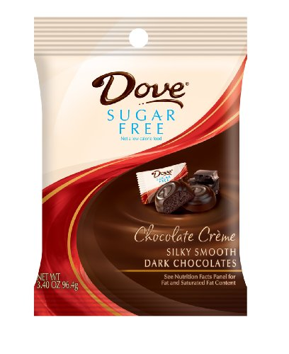Dove Dark Chocolate Sugar Free Chocolate Creme Candy, 3.4-Ounce Packages (Pack of 6)