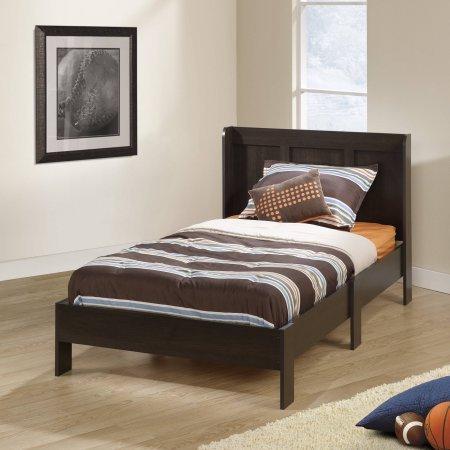 sauder-414129-parklane-twin-platform-engineered-wood-construction-bed-with-headboard-espresso-color-