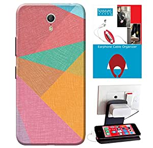 Lenovo ZUK Z1 Accessories Combo, Premium Quality Designer Printed 3D Lightweight Slim Matte Finish Hard Case Back Cover for Lenovo ZUK Z1 + Free Earphone Cable Organizer + Mobile Charging Holder/Stand