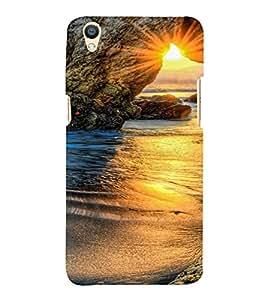 PrintVisa Travel Beach Sunset Design 3D Hard Polycarbonate Designer Back Case Cover for Oppo F1 Plus