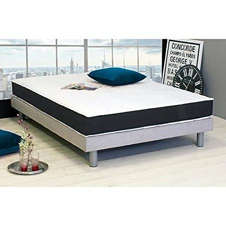 Dormipurmemo v850 matelas 180 x 200 cm - mousse polyuréthane et mémoire de forme - equilibré - 30 kg/m3 et 50 kg/m3 - 2 perso...