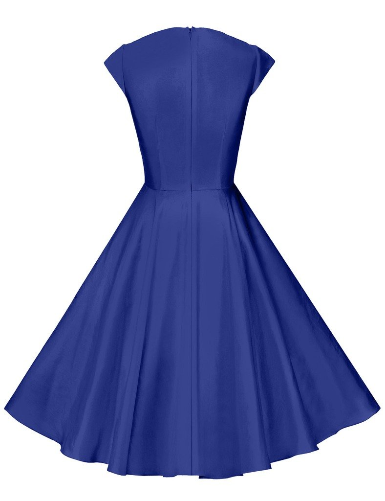 GownTown Womens Dresses Party Dresses 1950s Vintage Dresses Swing Stretchy Dresses 1