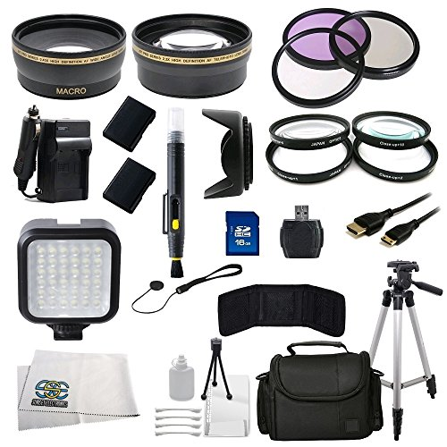 52Mm Outdoor Ultimate Accessory Package For Nikon D3100, D3200, D3300, D5100, D5200, D5300 Dslr Cameras Which Have Any Of These (18-55Mm, 55-200Mm, 24Mm F/2.8D, 28Mm F/2.8D, 35Mm F/1.8G, 35Mm F/2.0D, 40Mm F/2.8G, 50Mm F/1.4D, 50Mm F/1.8D & 85Mm F/3.5G) Le