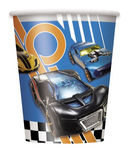 9oz Hot Wheels Paper Cups, 8ct