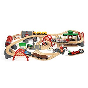 Brio Deluxe Railway Set  sc 1 st  KidsToysGO.com & Top 10 Best Wooden Train Tables and Sets for Kids of 2017