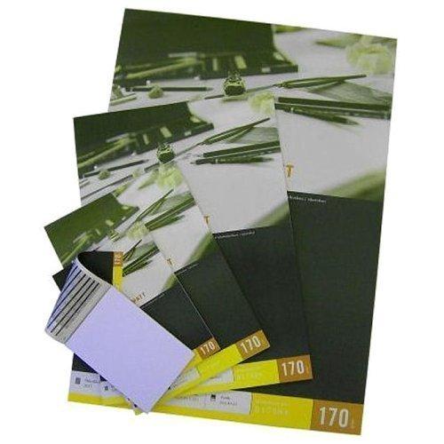 40 Blatt DIN A1 Zeichenblock / Zeichenpapier, 170 g/m², mattes hellweißes Papier