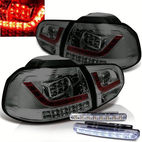 Rxmotoring 2011 Vw Golf Tail Light + 8 Led Fog Bumper Lamps