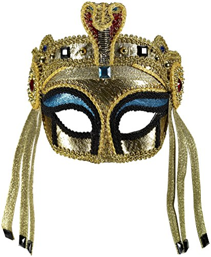 Forum Novelties Women's Deluxe Egyptian Mask with Eyeglass Arms
