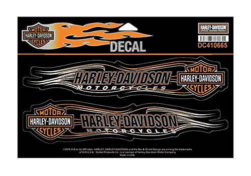 Harley-Davidson Bar & Shield Flames Foil Decal, 2 X-Large Size Stickers DC410665 (Harley Davidson Decal Large compare prices)