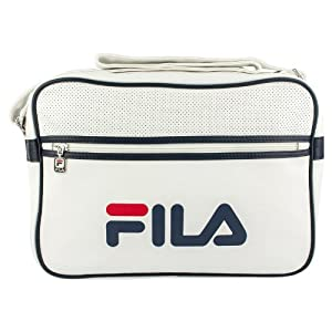 FILA Docena Retro Airline Messenger Bag - RRP £35, White