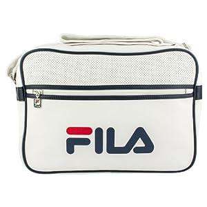 FILA Docena Retro Airline Messenger Bag - RRP £35, White