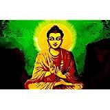 Tallenge - Gautam Buddha With Dark Background - A3 Size Rolled Poster