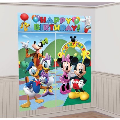 Disney Mickey Mouse and Friends Scene Setter Wall Decorations Kit - Kids Birthday and Party Supplies Decoration