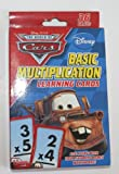 Disney Pixar World of Cars Multiplication Learning Flash Cards
