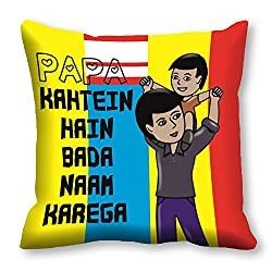 meSleep Papa Kehte Hai Cushion Cover (16x16)