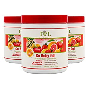 Institute for Vibrant Living Go Ruby Go, Fruit Superfood Powder, 8.93 oz, Antioxidants & Probiotics