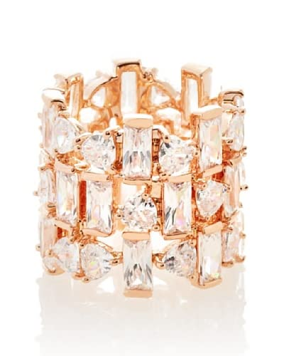 CZ By Kenneth Jay Lane Multi-Shape 3 Tier Band Ring