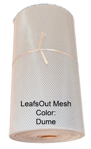 LeafsOut Mesh Rain Gutter Guard 98 Feet, Color Dume. Install it yourself Leaf Screen Protection Cover