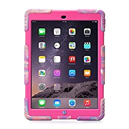 Ipad Case,Ipad Mini 2 Case,Ipad Mini 3 Case,ACEGUARDER® ipad mini case Case for kids Rainproof Shockproof Anti-Dirt Drop Resistance Case(pink camo-rose)