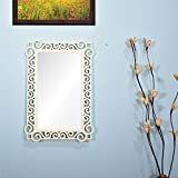 Wall Hanging Mirror Frame In White Color By Furniselan - B072SQRYXZ