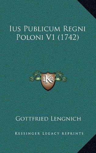 Ius Publicum Regni Poloni V1 (1742)