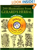 200 Illustrations from Gerard's Herbal CD-ROM and Book (Dover Electronic Clip Art)