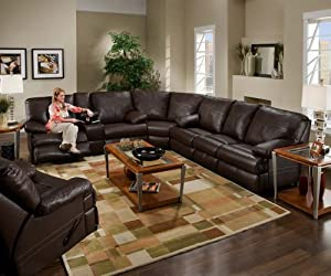 Amazon Com Simmons 50980 Charleston Leather Sectional