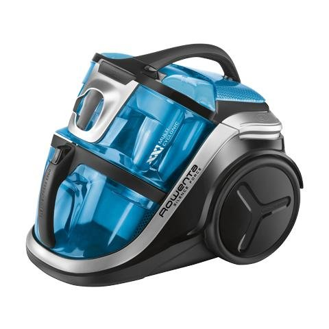 ROWENTA RO8341EA Silence Force Aspirapolvere Senza Sacco Potenza 2100 Watt Capacità 2 Litri Colore Nero / Blu