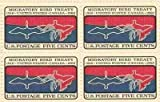 Migratory Bird Treaty Set of 4 x 5 Cent US Postage Stamps NEW Scot 1306 by USPS; US Post Office Dept; US Stamps