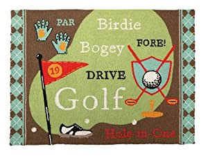 Amazon Com Quot Hole In One Quot Golf Themed Floor Hook Rug With