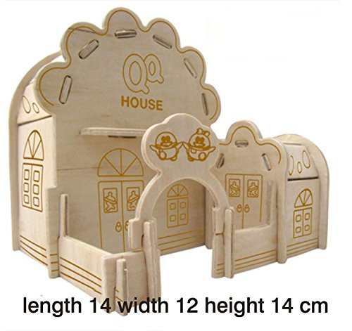 Thinkmax 3D Three-Dimensional Puzzle Wooden House Model,Children'S Educational Toys(Q House) front-883465