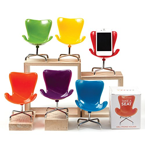 Retro Chair Cell Phone Stand (Yellow) front-111123