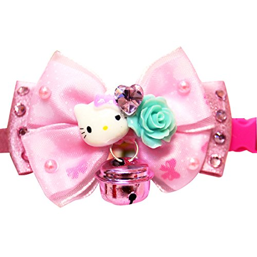 Pets-House-Pet-Dogs-Teddy-Hello-Kitty-Cat-Ornament-Bow-Tie-Necklace-Bell-Collar-Christmas