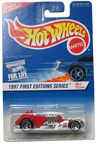 Hot Wheels 1997 First Editions Red Saltflat Racer #520 - 4 of 12 on Coolest to Collect Card - 1