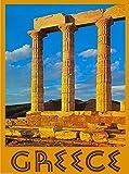 Greece Greek Athens Acropolis Europe European Travel Advertisement Poster